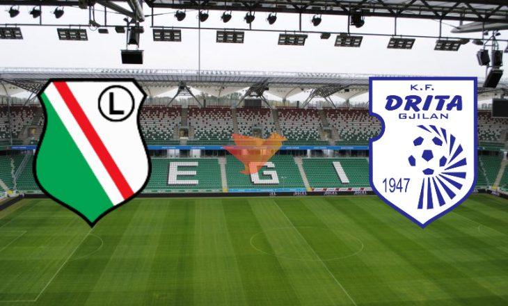 Sonte, Legia vs Drita – asnjë skuadër kosovare nuk ka arritur kaq lartë sa Drita