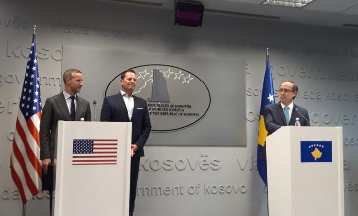 Hoti: Prezenca e delegacionit amerikan tregon vendosmërinë e zbatimit të marrëveshjes