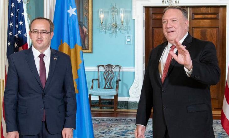 Hoti pritet nga Pompeo: SHBA e gatshme ta mbështesë Kosovën në procesin e dialogut