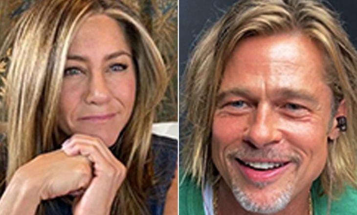 Ish-çifti, Jennifer Aniston dhe Brad Pitt ribashkohen virtualisht