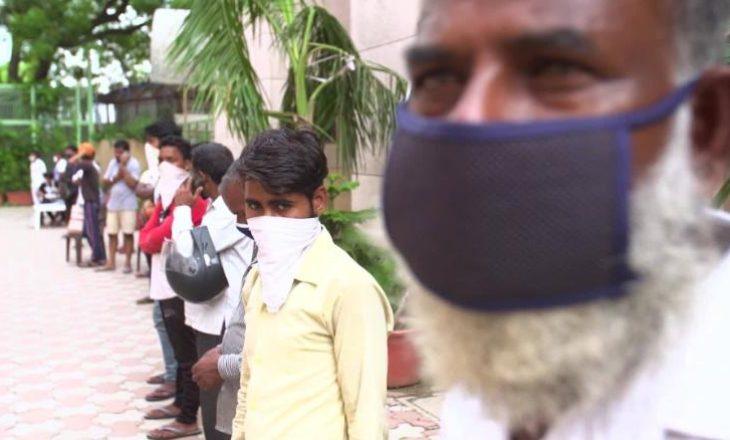 Përhapje e shpejt e virusit COVID-19 në Indi