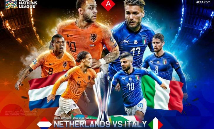 Përfundon pjesa e parë – Italia përpara ndaj Holandës