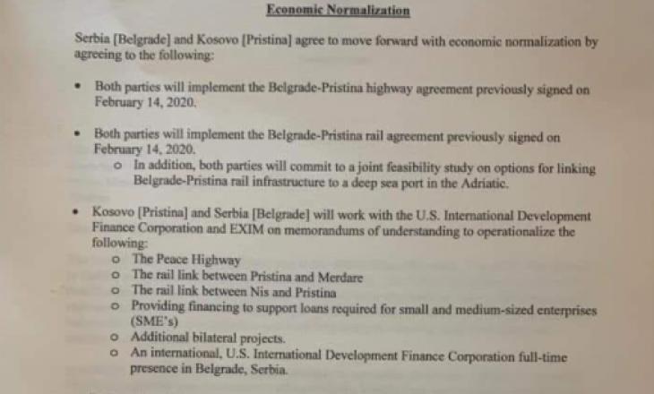 DOKUMENT: Marrëveshja e plotë në mes të Kosovës dhe Serbisë