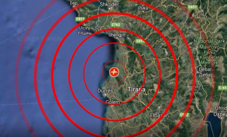 Tërmet në Tiranë