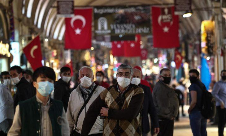 Turqi, 55 viktima në 24 orët e fundit nga Covid-19