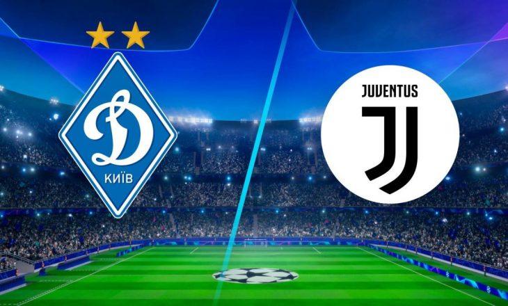 Formacionet zyrtare mes Dynamo Kyiv dhe Juventus në Ligën e Kampionëve