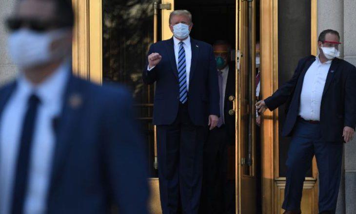 Trump kthehet në Zyrën Ovale, then karantinën