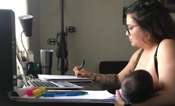 Profesori i kërkon studentes të mos i japë gji foshnjës gjatë mësimit online