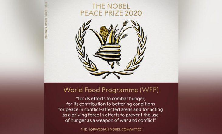 Nobeli për Paqe fitohet nga Programi Botëror i Ushqimit i KB-së