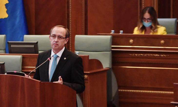 Hoti raporton në tri interpelanca të mërkurën në Kuvend
