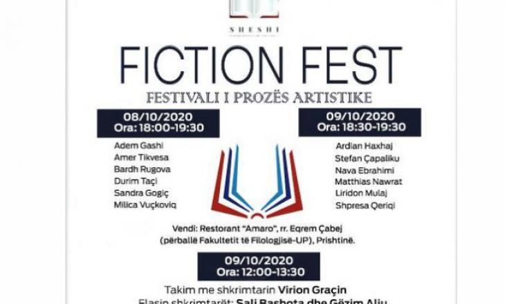 """Paralajmërohet edicioni i tretë i festivalit të prozës artistike """"Fiction Fest"""""""