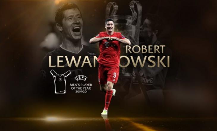 Lewandowski e fiton çmimin e lojtarit të vitit në Evropë