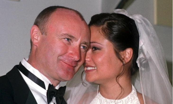 Gruaja e Phil Collins u nda me të përmes një mesazhi dhe u martua me një tjetër burrë