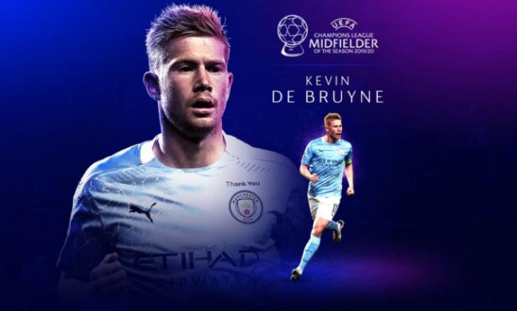 Kevin De Bruyne shpallet mesfushori më i mirë i vitit