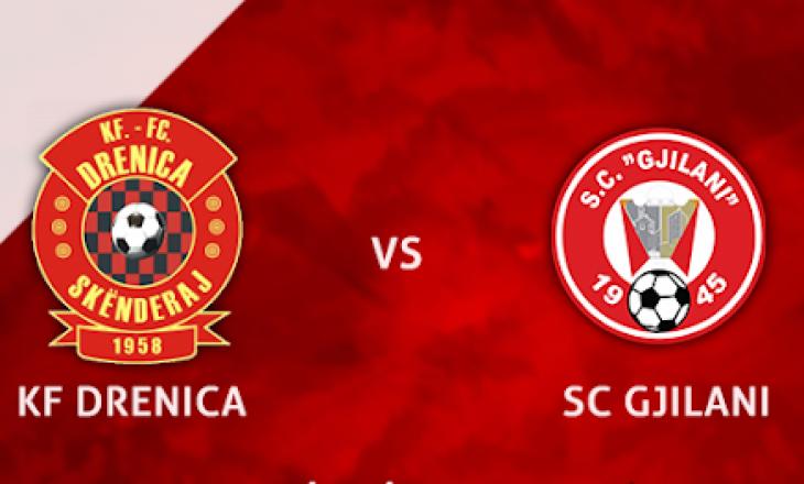 Drenica vs Gjilani, ndeshja e vetme në Superligë ditën e sotme