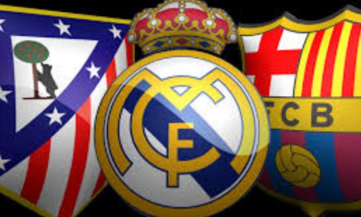 Real Madrid, Barcelona e Atletico Madrid me testet e radhës në Laliga