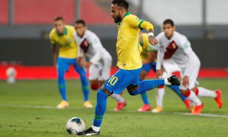"""Neymar tre gola për Brazilin, thyen rekordin e """"Fenomeni""""-t"""