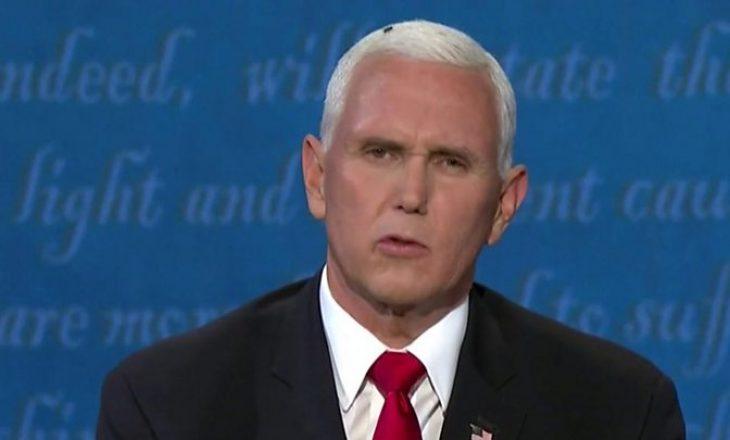 Miza e cila 'ateroi' në kokën e Mike Pence gjatë debatit presidencial bëhet e famshme në rrjetet sociale (VIDEO)
