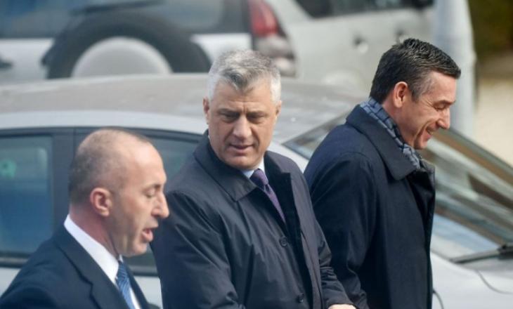 """Thaçi, Veseli e Haradinaj e kaluan mëngjesin bashkë """"për qef"""" jo për zhvillimet aktuale"""
