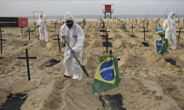 Brazili goditet rëndë nga Covid 19 – 33.862 raste brenda ditës