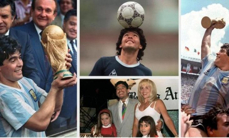 Maradona, karriera e legjendës botërore mes fotografive