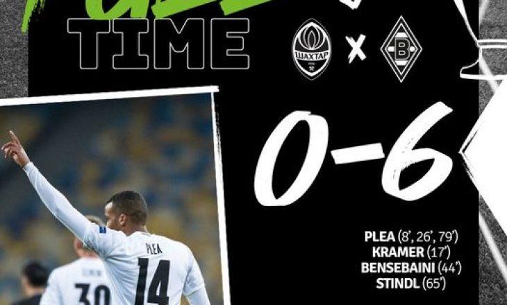 M'gldbach shkatërron Shakhtar-in, Lokomotiva dhe Atletico ndajnë pikët