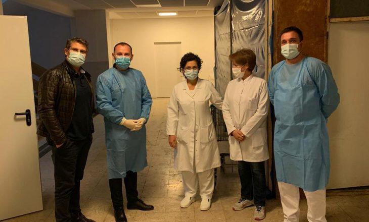Zemaj viziton Klinikën Infektive – falënderon stafin për qëndrueshmëri