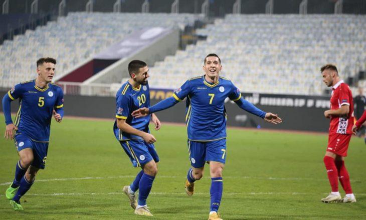 Mbyllet pjesa e parë, Kosova po fiton me golin e Kastratit ndaj Moldavisë