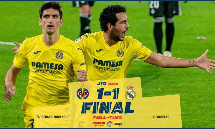 Real Madrid nuk shkon më shumë se një barazim kundër Villarreal