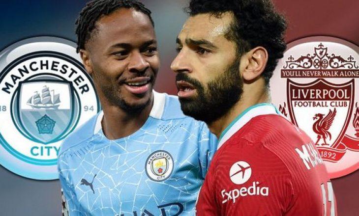 Derbi anglez, Man City vs Liverpool, formacionet zyrtare