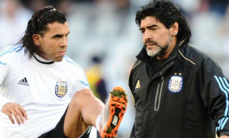 Pas vdekjes së Maradonës, Tevez refuzon të luajë