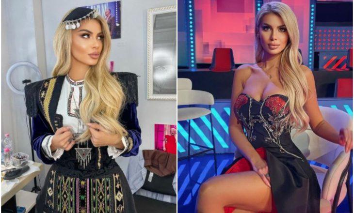 Luana Vjollca në veshje kombëtare dhe të modës së lartë në nder të 28 Nëntorit