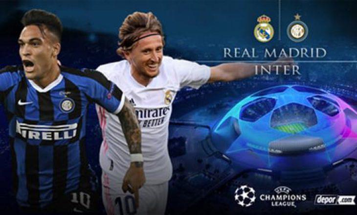 Pas pjesë së parë, Real Madrid në epërsi ndaj Inter