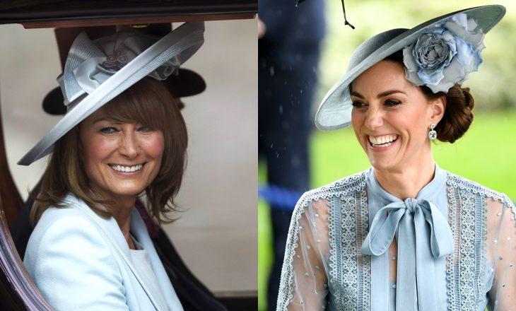 Një fustan që herë veshë dukesha Kate Middleton e herë nëna e saj