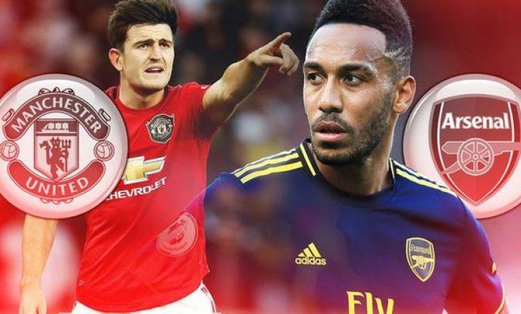 Formacionet zyrtare të sfidës Manchester United – Arsenal