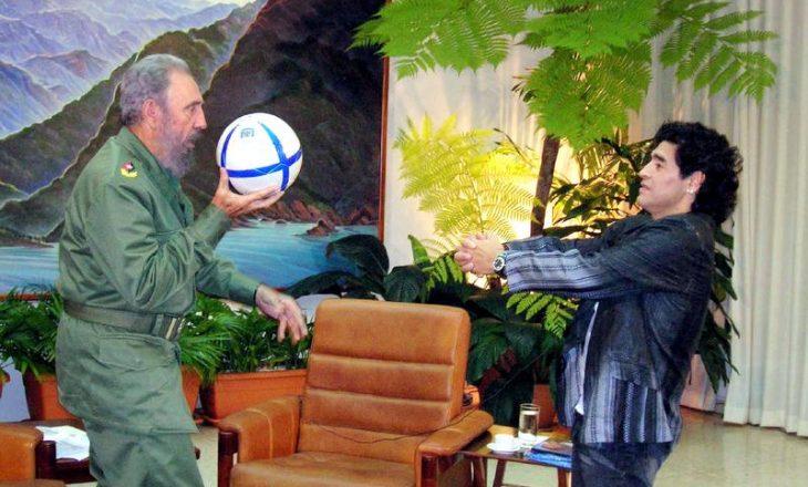 Maradona vdes në të njëjtën ditë me idhullin e tij të politikës