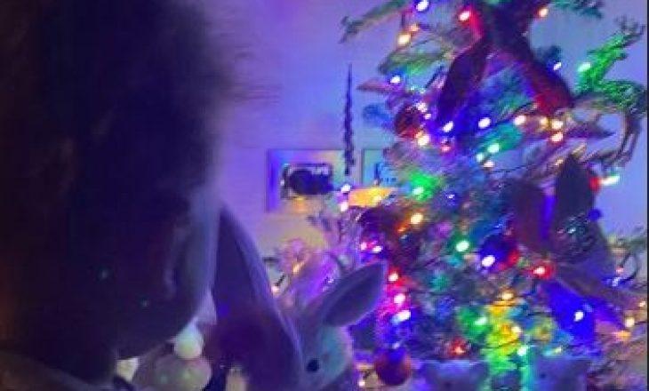 Ka një arsye pse Sara Hoxha ka dy pemë krishtlindjesh në shtëpi
