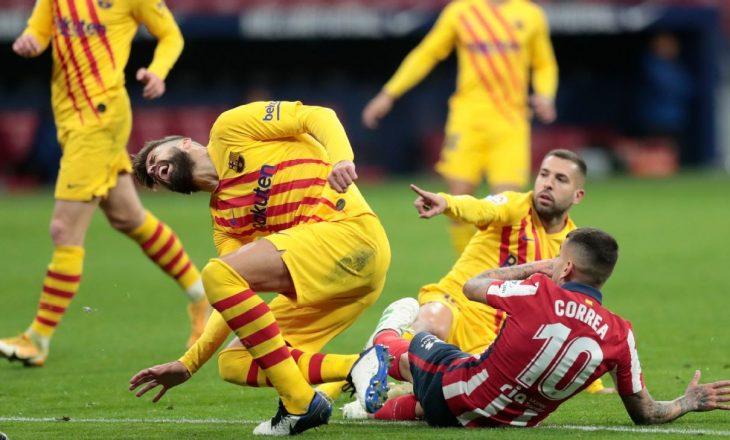 Dëmtohet Pique te Barcelona