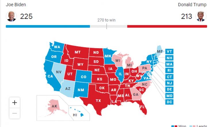Shtetet që po lëkunden sa ka Biden e sa ka Trump
