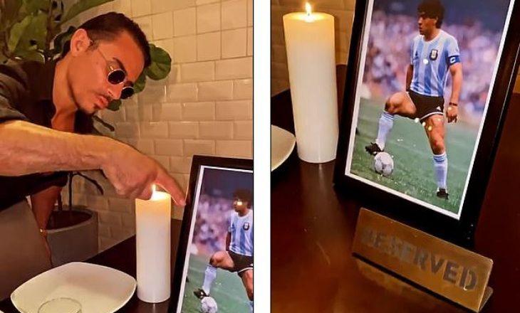 Nusret rezervon përjetësisht tavolinën e preferuar të Maradona-s