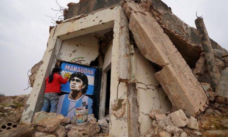 Maradona kujtohet edhe në Sirinë e djegur