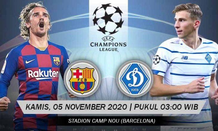 Barcelona vs Dinamo Kyiv dhe Ferencvaros vs Juventus, formacionet zyrtare