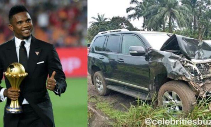 Përplaset me makinë Samuel Eto'o
