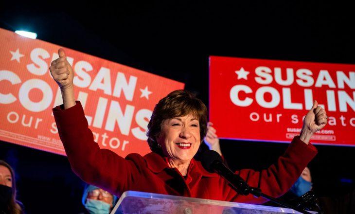 Republikanja Susan Collins shpall fitoren në Maine
