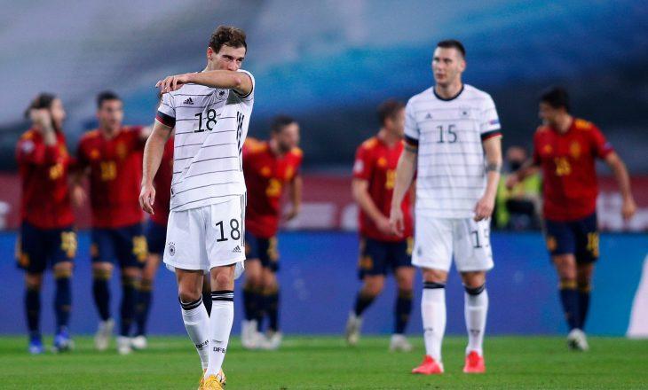Spanja e deklason Gjermaninë, ia shkakton humbjen e dytë më të turpshme në histori të saj
