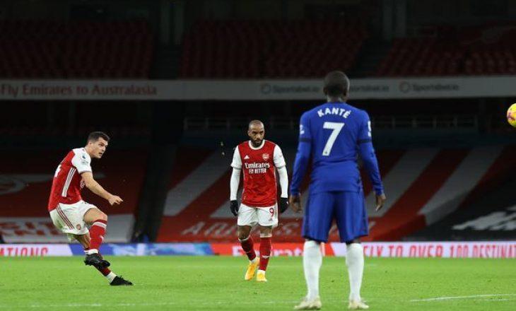 Xhaka vlerësohet me notë të lartë në ndeshjen kundër Chelsea-t
