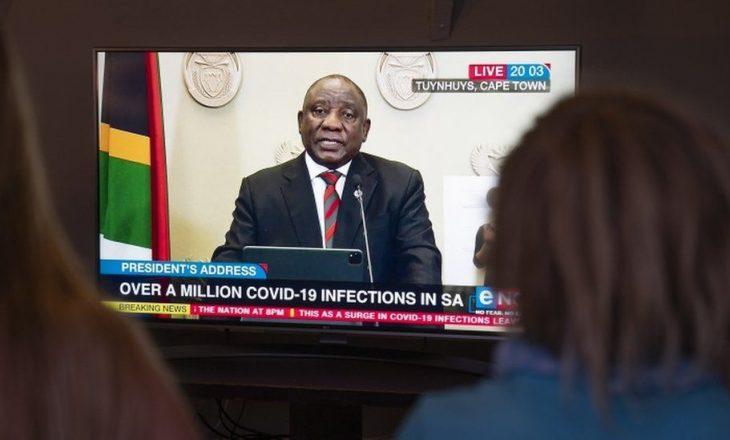 Afrika e Jugut njofton masat e reja përderisa rastet me Covid kanë kaluar një milion
