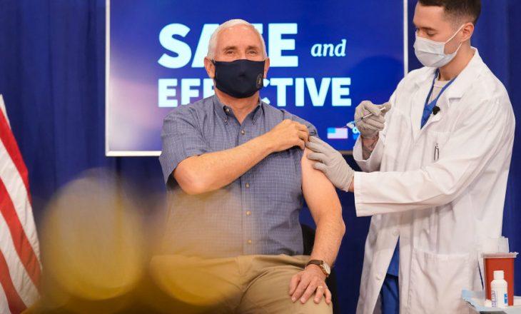 Mike Pence merr vaksinën kundër COVID-19