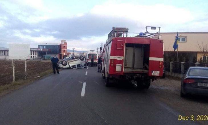 Aksident i rëndë në rrugën Viti-Kllokot, vdes një person e lëndohen disa të tjerë