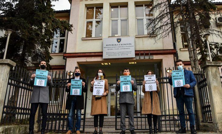 """Protesta e VV-së për """"mungesën e oksigjenit në spitale"""""""